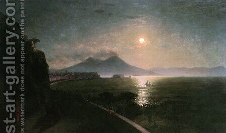 Vesuvius by Ivan Konstantinovich Aivazovsky - Reproduction Oil Painting