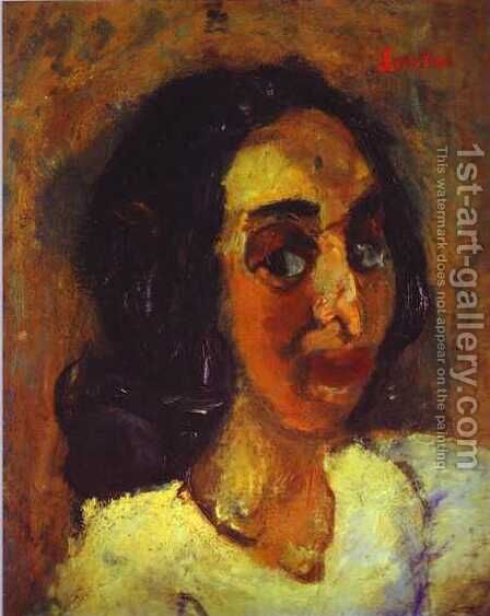 Portrait of a Woman by Chaim Soutine - Reproduction Oil Painting
