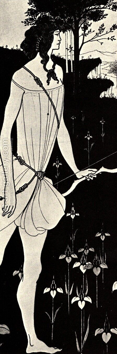 Atalanta in Calydon by Aubrey Vincent Beardsley - Reproduction Oil Painting