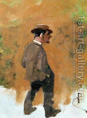 Rene Princeteau by Toulouse-Lautrec - Reproduction Oil Painting
