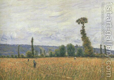 The Hills of La Bouille by Alfred Sisley - Reproduction Oil Painting