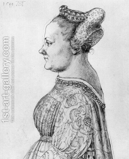 Portrait of a Woman by Albrecht Durer - Reproduction Oil Painting