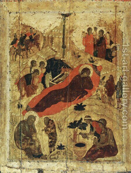 Birth of Christ by Andrei Rublev - Reproduction Oil Painting