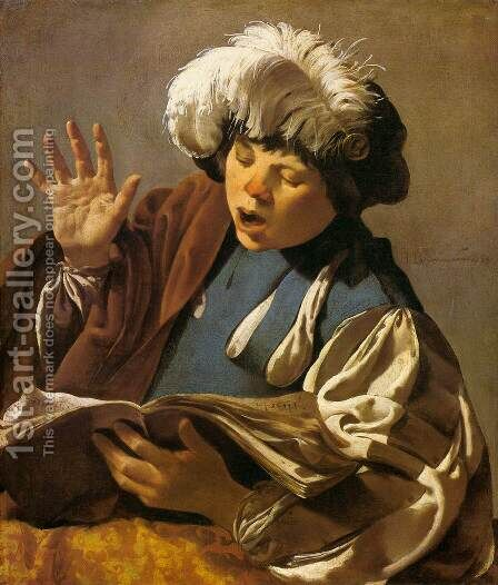 Singing Boy by Hendrick Terbrugghen - Reproduction Oil Painting