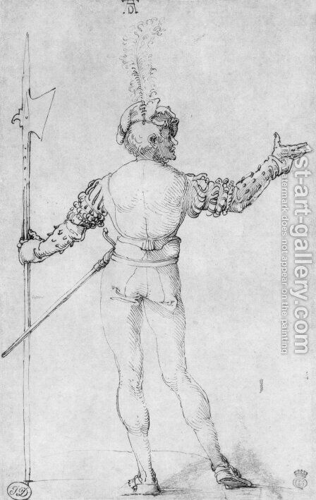 Back figure by Albrecht Durer - Reproduction Oil Painting