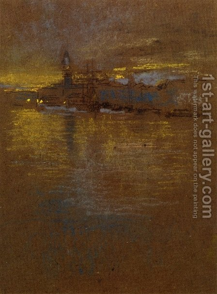 View across the Lagoon by James Abbott McNeill Whistler - Reproduction Oil Painting