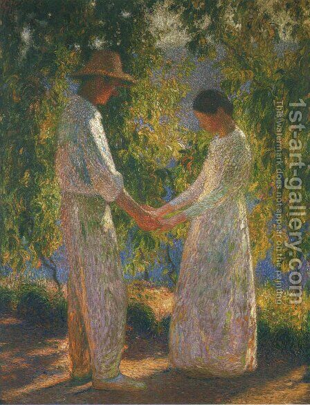 The Lovers by Henri Martin - Reproduction Oil Painting