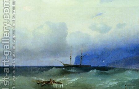 Sea 9 by Ivan Konstantinovich Aivazovsky - Reproduction Oil Painting