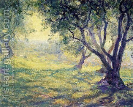 Provincial Olive Grove by Guy Rose - Reproduction Oil Painting
