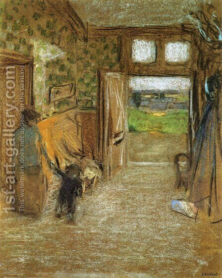 The Vestibule at Saint Jacut de la mer by Edouard  (Jean-Edouard) Vuillard - Reproduction Oil Painting