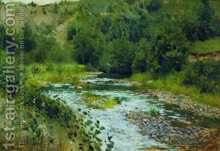 A river 3 by Isaak Ilyich Levitan - Reproduction Oil Painting