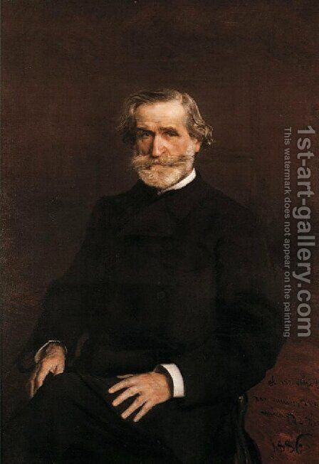 Portrait of Guiseppe Verdi (1813-1901) by Giovanni Boldini - Reproduction Oil Painting