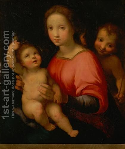 Madonna and Child with St. John the Baptist 3 by Andrea Del Sarto - Reproduction Oil Painting