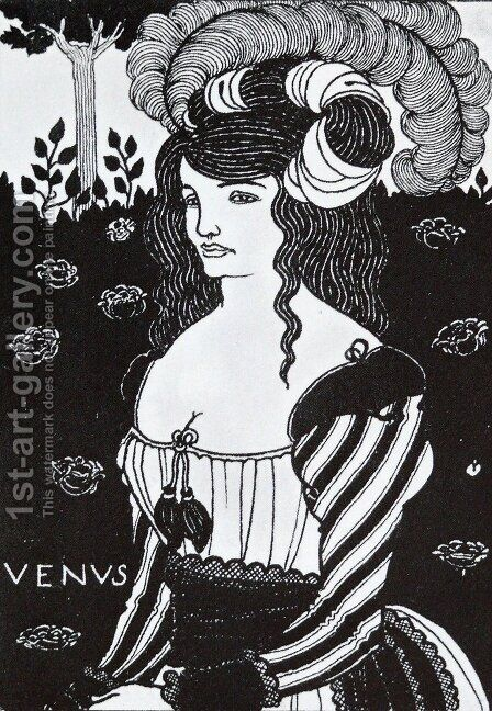 Title page by Aubrey Vincent Beardsley - Reproduction Oil Painting
