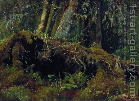 Wind Fallen Trees 3 by Ivan Shishkin - Reproduction Oil Painting