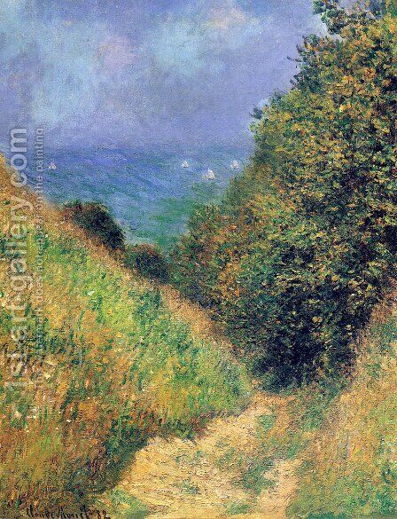 Path at Pourville 02 by Claude Oscar Monet - Reproduction Oil Painting