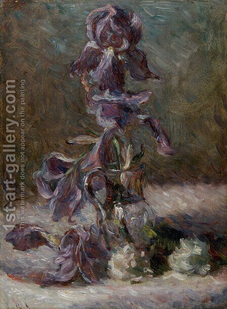 Iris in a vase 1886 by Marie Bracquemond - Reproduction Oil Painting