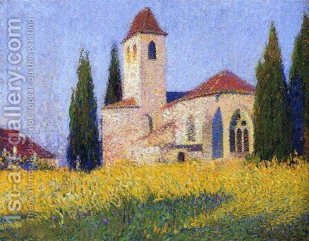 Church in Labastide 3 by Henri Martin - Reproduction Oil Painting