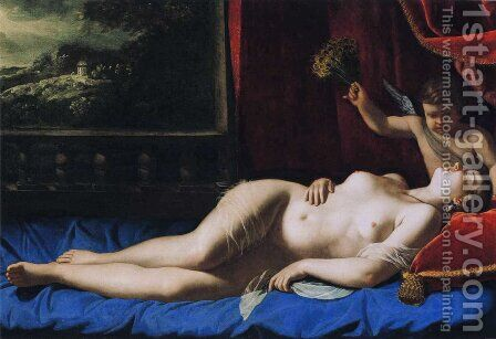 Sleeping Venus by Artemisia Gentileschi - Reproduction Oil Painting