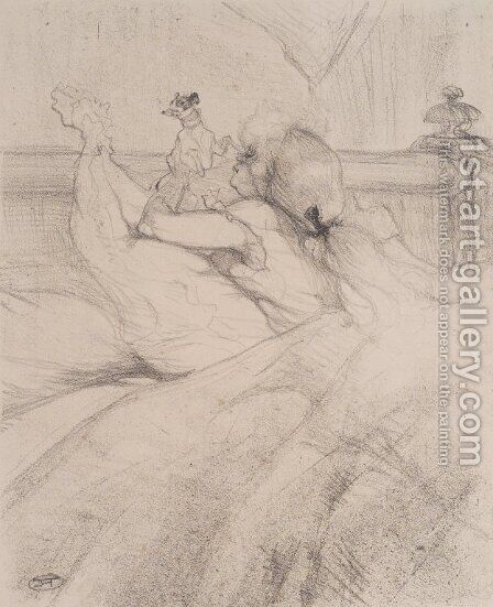 In Bed 3 by Toulouse-Lautrec - Reproduction Oil Painting