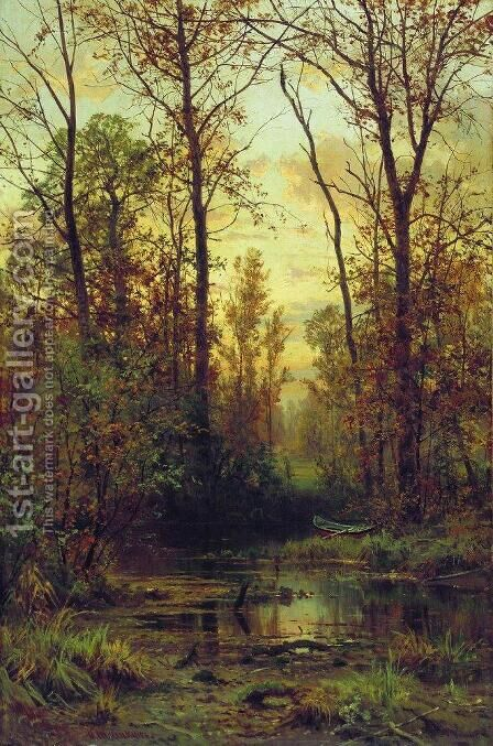 Forest. Autumn by Ivan Shishkin - Reproduction Oil Painting