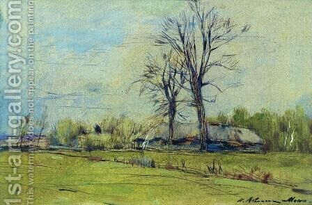Melikhovo at spring by Isaak Ilyich Levitan - Reproduction Oil Painting