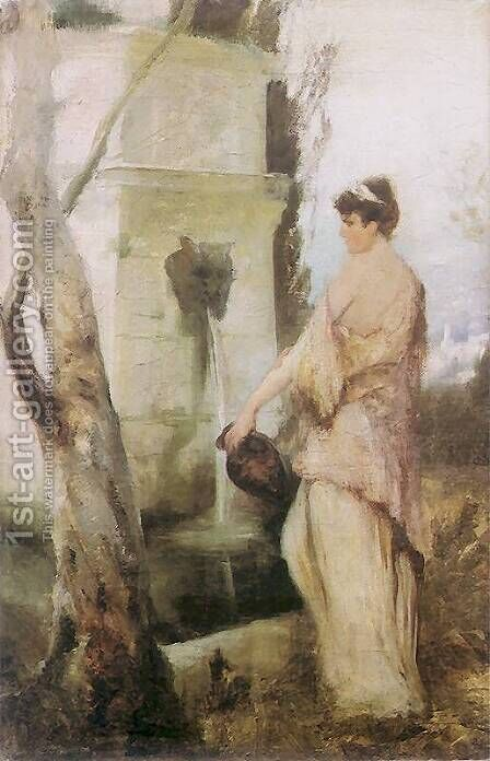 At the well by Henryk Hector Siemiradzki - Reproduction Oil Painting