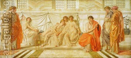 The Shulamite by Albert Joseph Moore - Reproduction Oil Painting