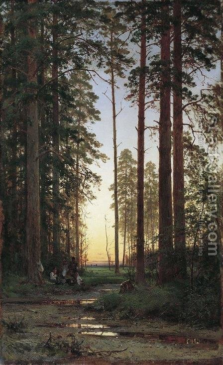 Edge of the Forest 8 by Ivan Shishkin - Reproduction Oil Painting