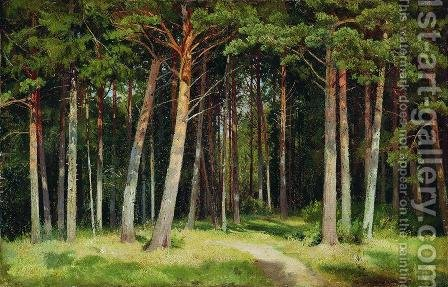 Pine forest 11 by Ivan Shishkin - Reproduction Oil Painting