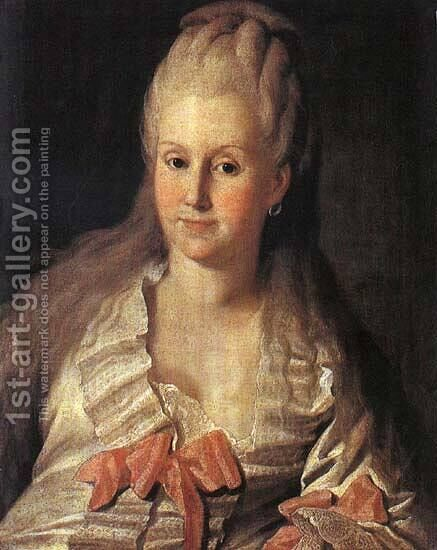 Portrait of Anna Muravyova by Carl-Ludwig Christinek - Reproduction Oil Painting