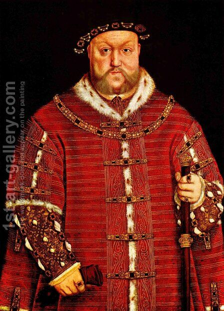 Portrait of Henry VIII by Hans, the Younger Holbein - Reproduction Oil Painting