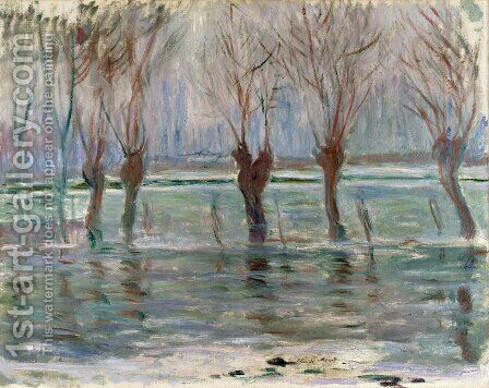 Flood Waters by Claude Oscar Monet - Reproduction Oil Painting