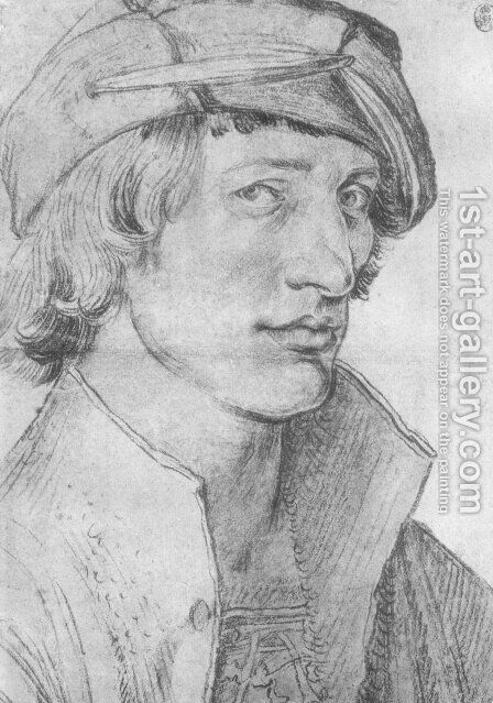 Portrait of a Young Man 7 by Albrecht Durer - Reproduction Oil Painting