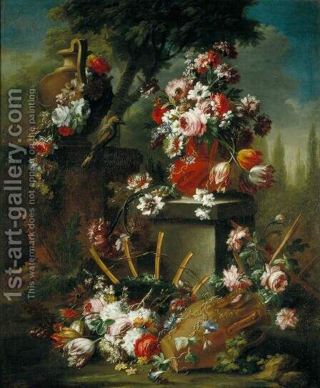 Vase and Flowers by dei Fiori (Nuzzi) Mario - Reproduction Oil Painting