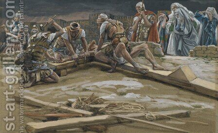 The First Nail (Le premier clou) by James Jacques Joseph Tissot - Reproduction Oil Painting