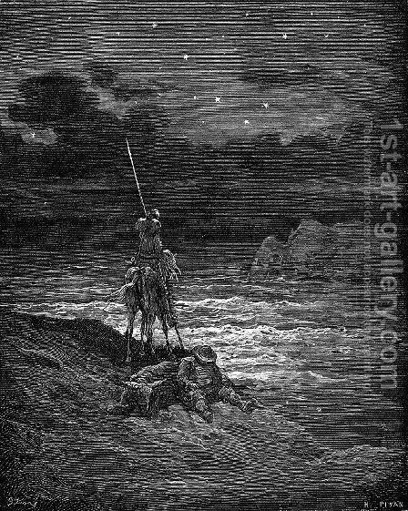 Don Quixote 84 by Gustave Dore - Reproduction Oil Painting