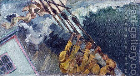 The storm by Akseli Valdemar Gallen-Kallela - Reproduction Oil Painting