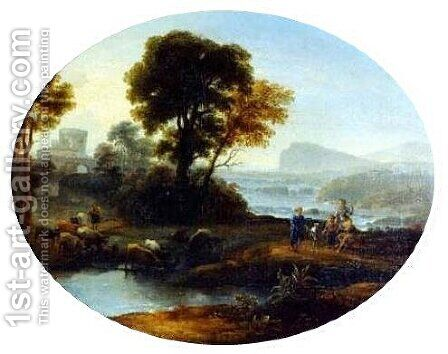 Pastoral landscape 4 by Claude Lorrain (Gellee) - Reproduction Oil Painting