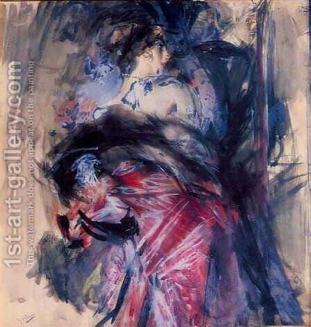Scena Galante by Giovanni Boldini - Reproduction Oil Painting