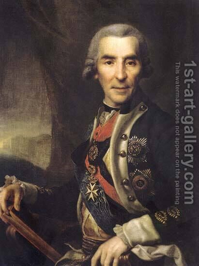 Ivan Golenishcev-Kutuzov by Dmitry Levitsky - Reproduction Oil Painting