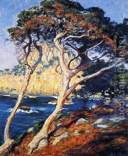 Point Lobos Trees by Guy Rose - Reproduction Oil Painting