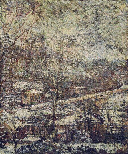 Landscape in wintertime by Marie Bracquemond - Reproduction Oil Painting