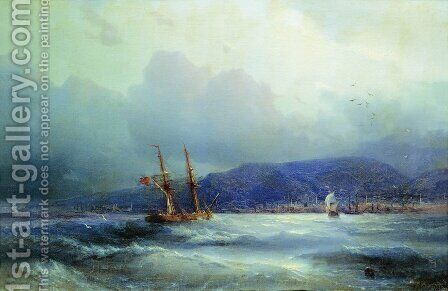 Trebizond from the Sea 2 by Ivan Konstantinovich Aivazovsky - Reproduction Oil Painting