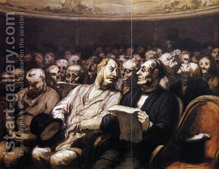 The Intermission by Honoré Daumier - Reproduction Oil Painting