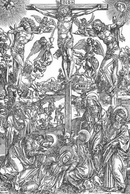 Crucifixion 4 by Albrecht Durer - Reproduction Oil Painting
