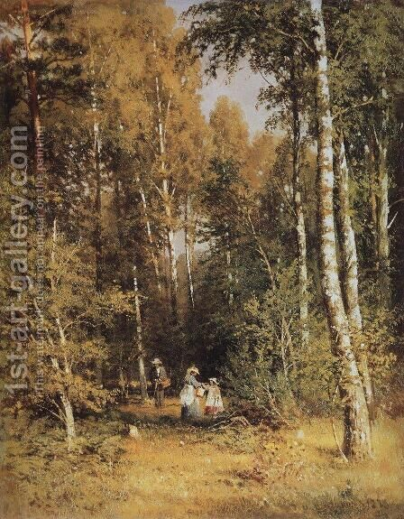 Birch Grove 5 by Ivan Shishkin - Reproduction Oil Painting