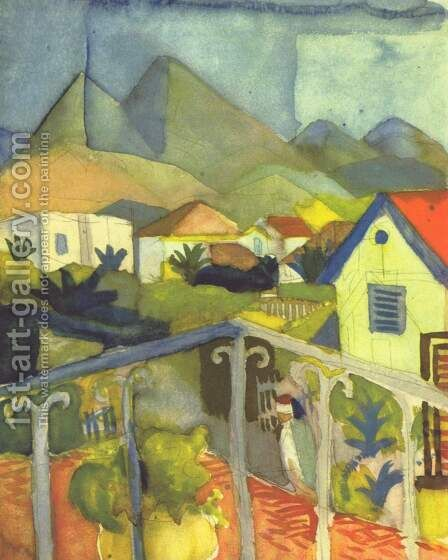 St. Germain near Tunis by August Macke - Reproduction Oil Painting