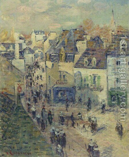 Pont Aven by Gustave Loiseau - Reproduction Oil Painting