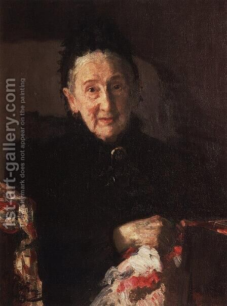 Portrait of L.I. Shestakova, sister of composer Mikhail Glinka by Ilya Efimovich Efimovich Repin - Reproduction Oil Painting